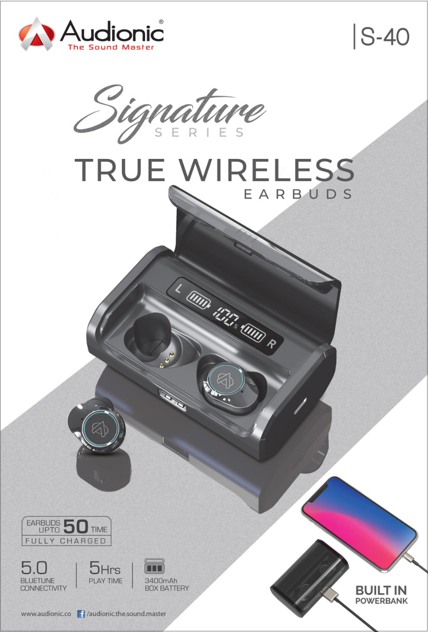 Audionic Signature S-40 True Wireless earbuds