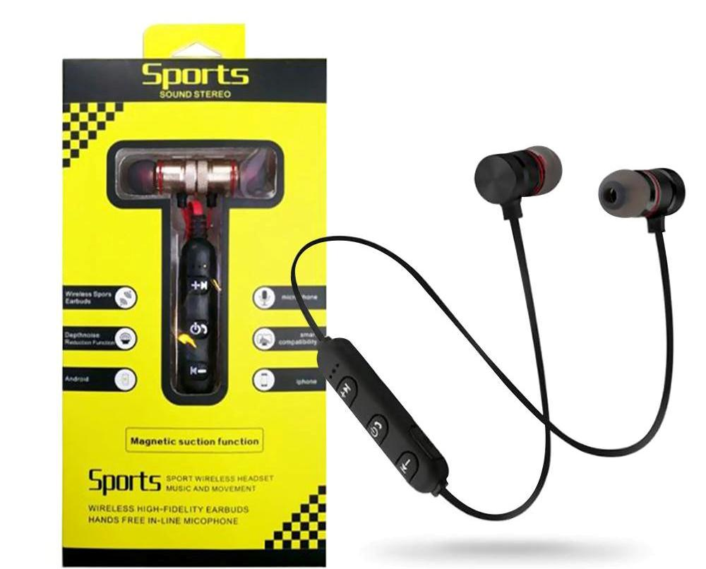 Magnetic M5 Bluetooth Sport Earbuds With Mic
