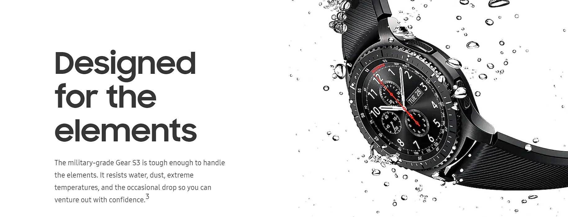 Samsung Gear S3 Frontier Design for the Element IP67