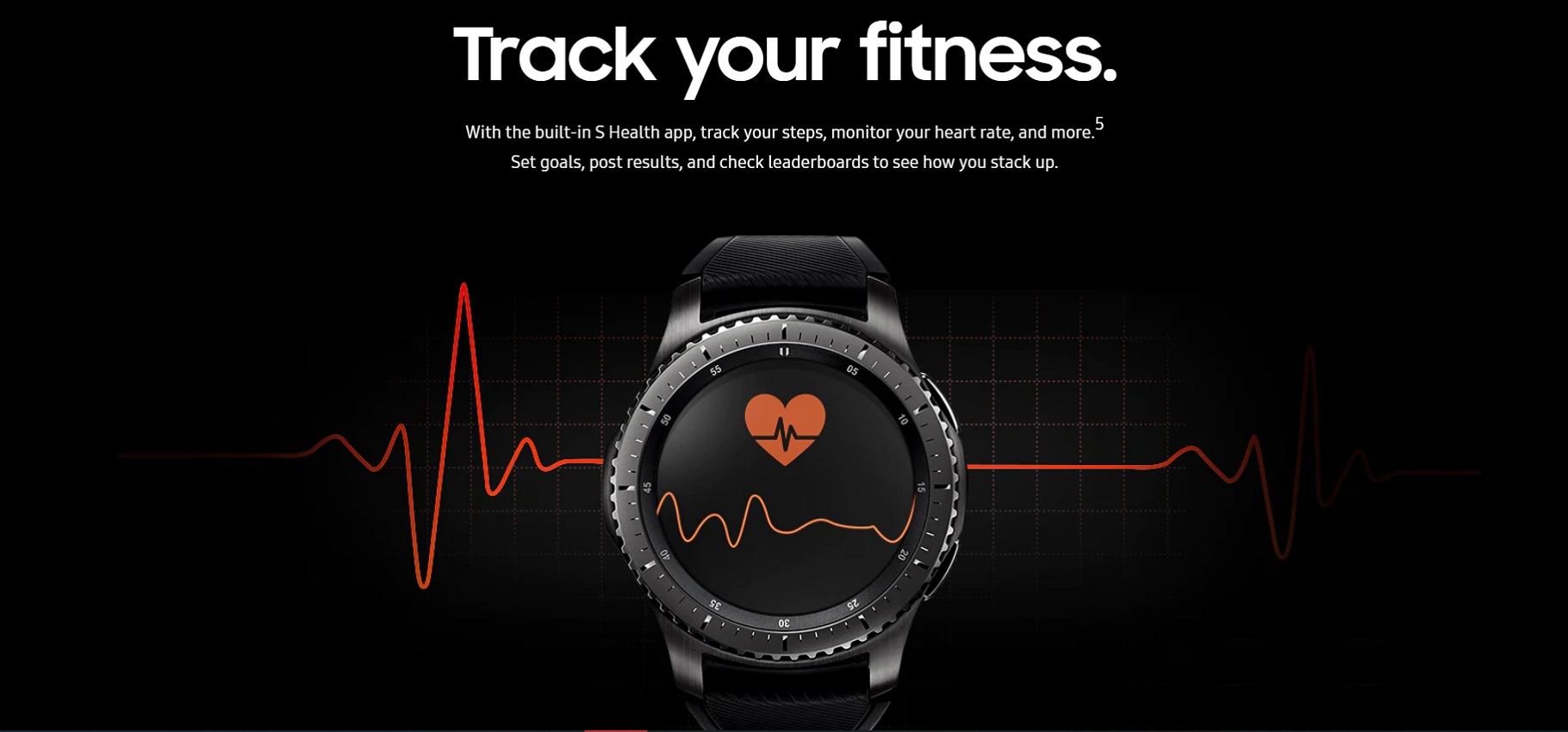 Track Your Fitness with Samsung Gear S3 Frontier