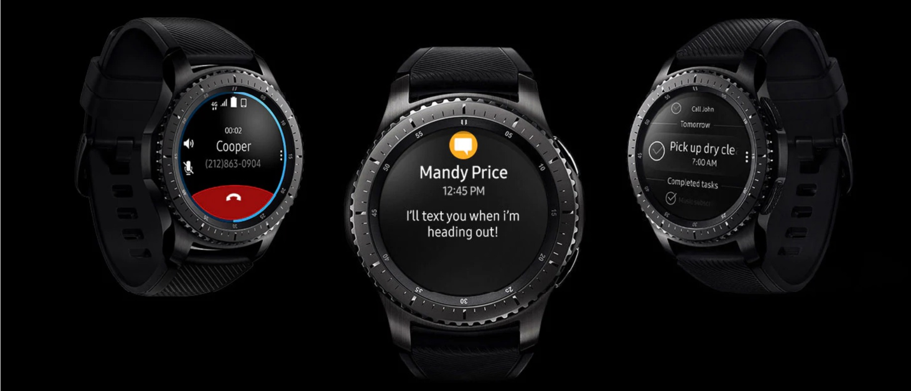 Samsung Gear S3 Frontier Never Miss a Moment