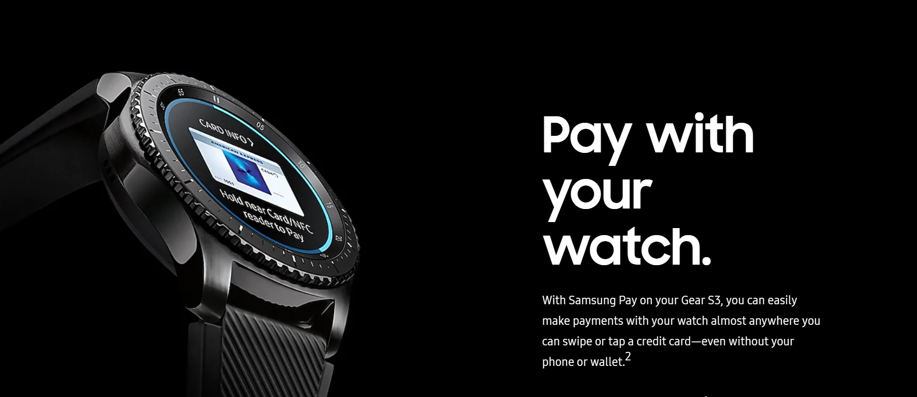 Samsung Gear S3 Frontier Pay with Your Watch