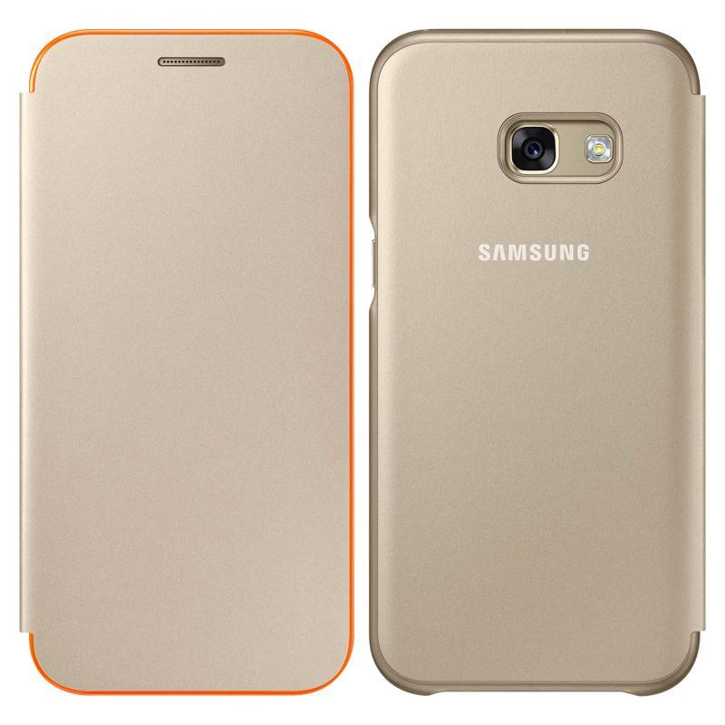 innovative design 1769f f4dfa Samsung Galaxy A5 2017 Neon Flip Cover - Gold