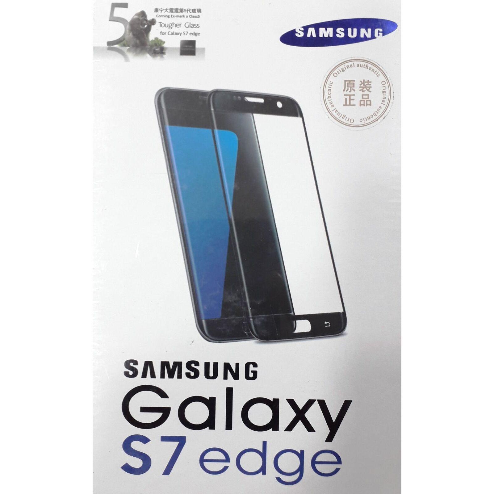 quality design 751c3 57649 Samsung Galaxy S7 Edge Glass Protector - Black