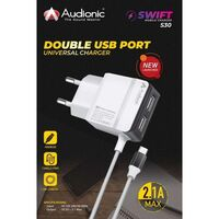 Audionic SWIFT S-30 Dual USB Port Mobile Charger