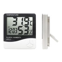HTC 1 Hygrometer Digital Temperature & Humidity Meter + Clock