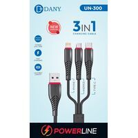Dany 3 in 1 Charging Cable