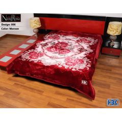NangRosa Maroon Double Bed Blanket