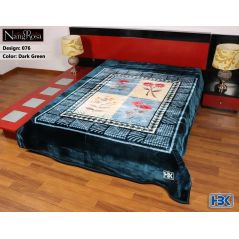 NangRosa Dark Green Double Bed Blanket