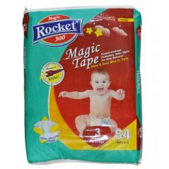 Rocket Magic Tape Jumbo Pack Size 3 Medium