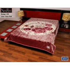 NangRosa Rose Red Double Bed Blanket