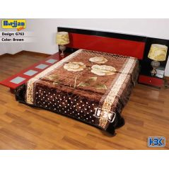 Burjjan King Dark Brown Double Bed Blanket