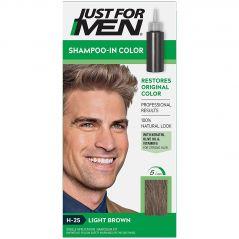 JUST FOR MEN LIGHT BROWN HAIR COLOR H-25