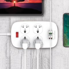 DANY PP1 4 Socket 4 USB ( 18W PD Charger )