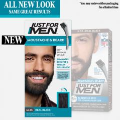 JUST FOR MEN REAL BLACK BEARD COLOR M-55