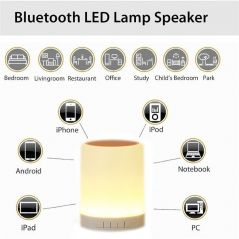 Smart Touch Control Wireless Portable Bluetooth Speaker
