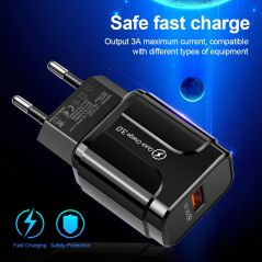 WC25 Qualcomm 18W Quick Charge 3.0 Charger With Cable