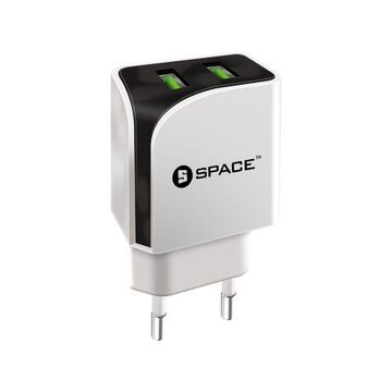 Space Dual USB Port Wall Charger - WC110