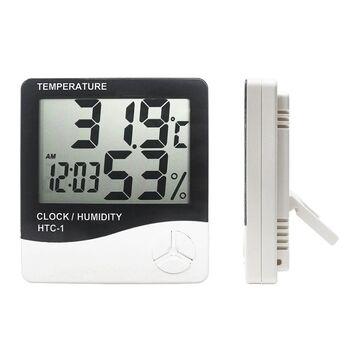 HTC 1 Hygrometer Digital Temperature & Humidity Meter + Clock