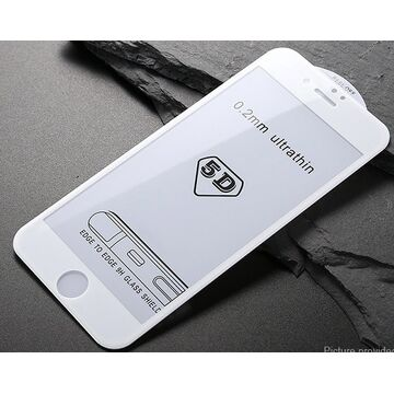 Apple iPhone 6 5D Edge to Edge Glass Protector - White