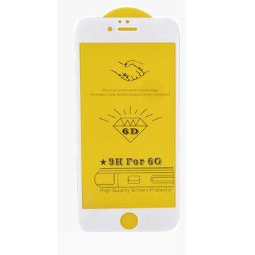 Apple iPhone 8 Plus 6D (Edge to Edge) Glass Protector - White