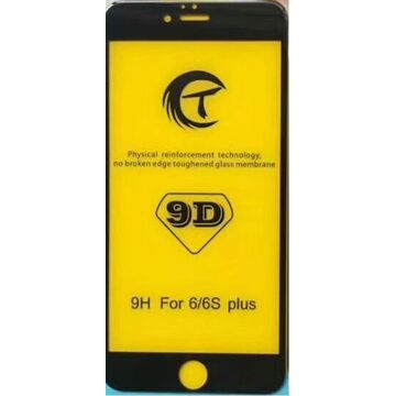 Apple iPhone 6 9D Edge to Edge Glass Protector - Black