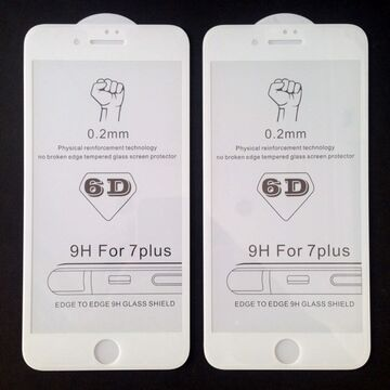 Apple iPhone 7 Plus 6D Edge to Edge Glass Protector - White