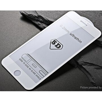Apple iPhone 8 5D (Edge to Edge) Glass Protector - White