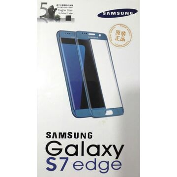 Samsung Galaxy S7 Edge Glass Protector - Blue