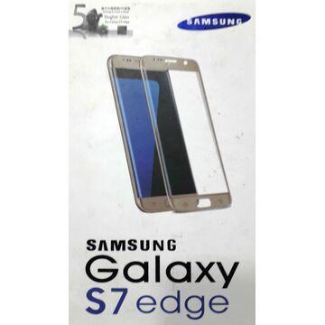 Samsung Galaxy S7 Edge Glass Protector - Gold
