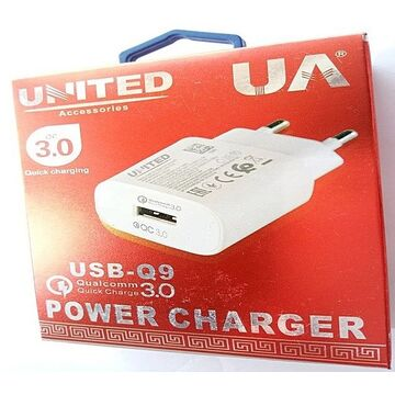 United 2A Quick Charging Q9 USB Power Charger