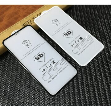 Apple iPhone X 5D (Edge to Edge) Glass Protector - Black