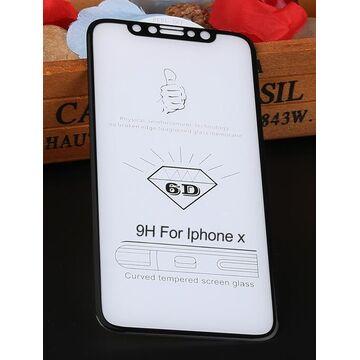 Apple iPhone X 6D Edge to Edge Glass Protector - Black