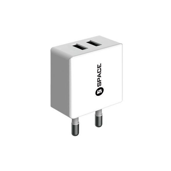 Space Dual USB Port Wall Charger - WC102
