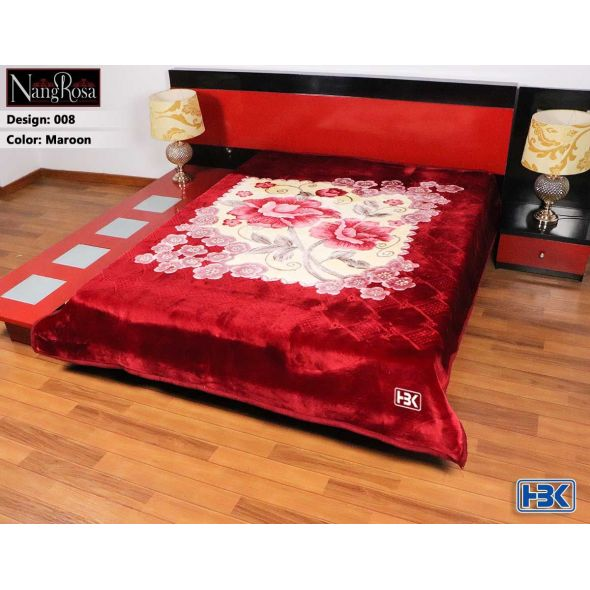 NangRosa Maroon Double Bed Blanket