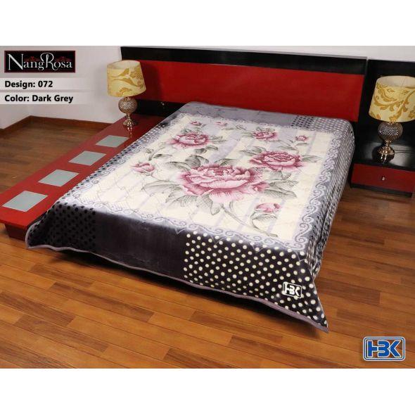 NangRosa Dark Grey Double Bed Blanket