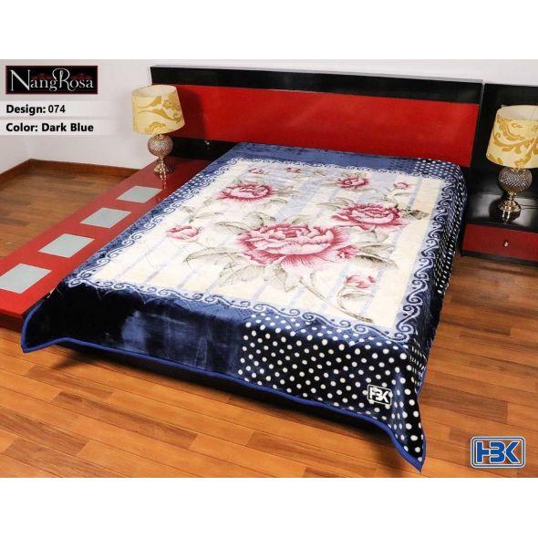 NangRosa Dark Blue Double Bed Blanket