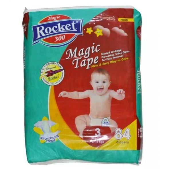 Rocket Magic Tape Jumbo Pack Size 3 Medium