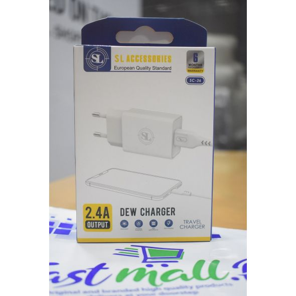 SL 2.4A Single USB 12w Charger