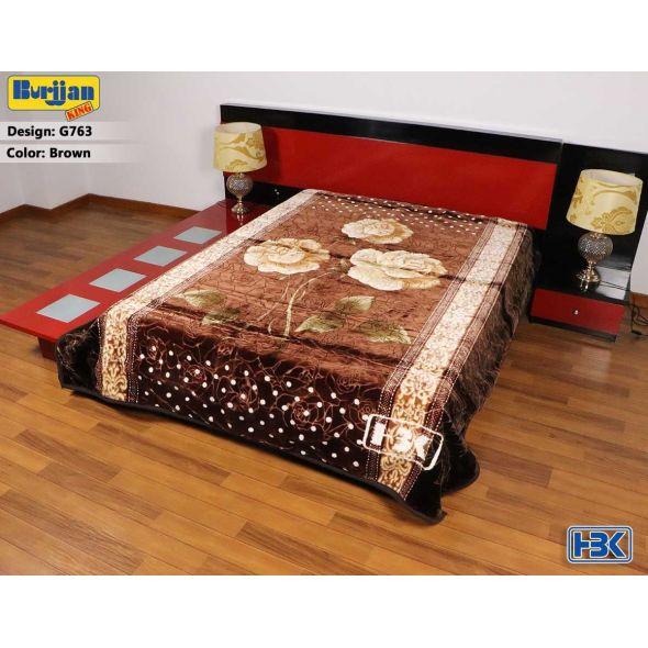 Burjjan King Dark Brown Double Bed Blanket