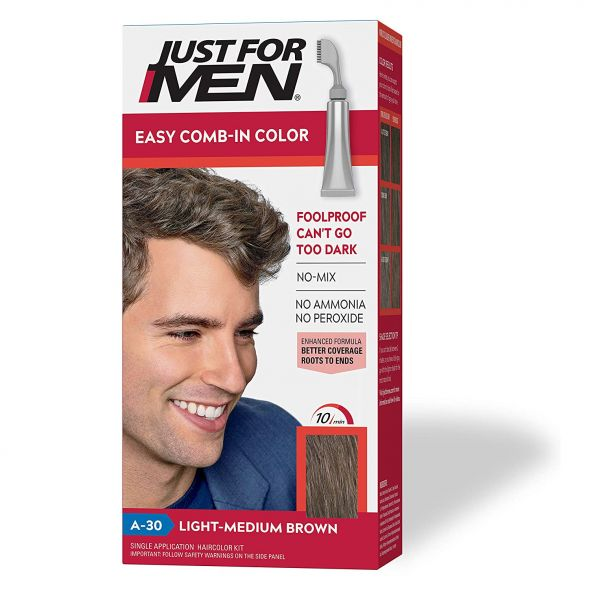 JUST FOR MEN MEDIUM BROWN HAIR COLOR A-30
