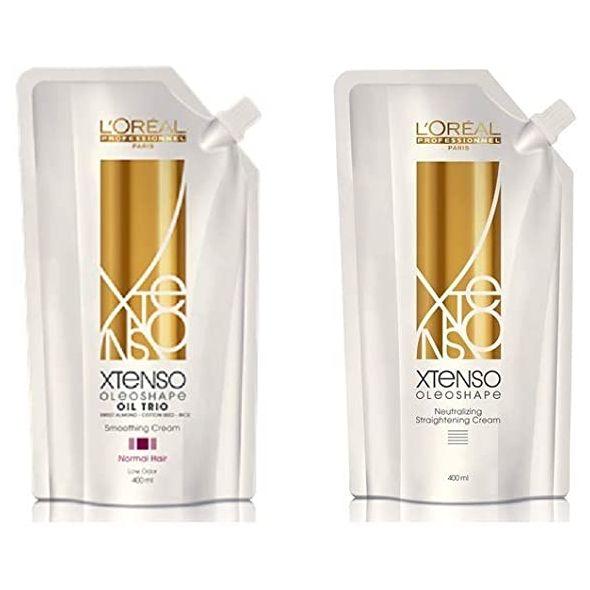 L'OREAL X-tenso Hair Straightener Cream & Neutralizer Pack 400ml
