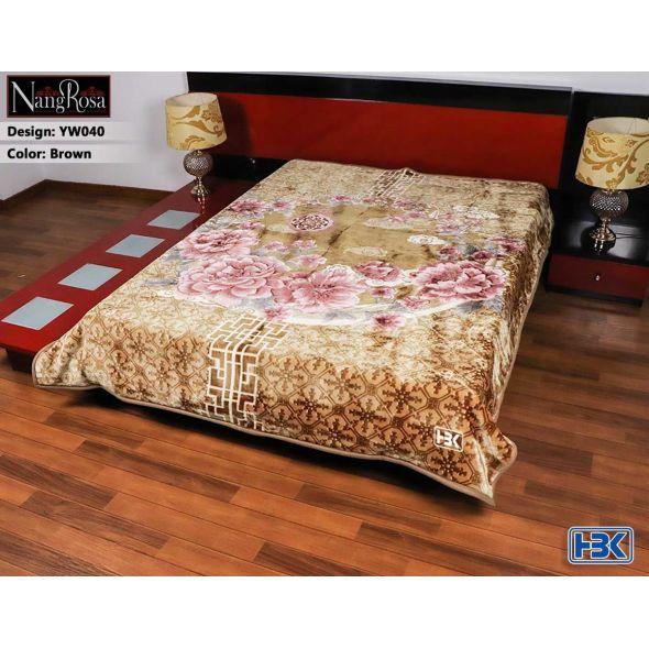 NangRosa Brown Double Bed Blanket